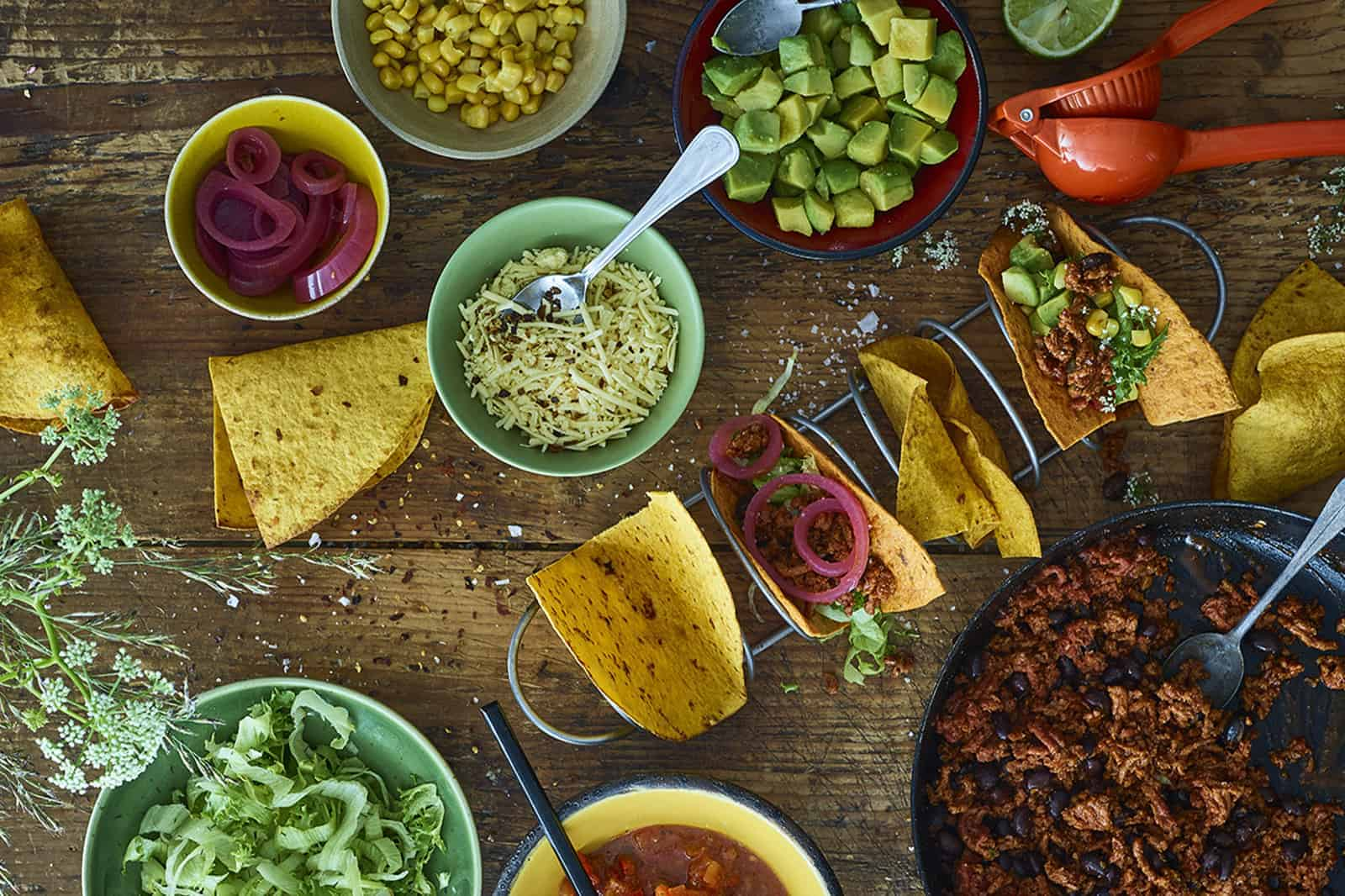 1.	Mexicaanse tacos met vegan twist